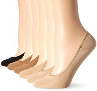 Hot Sox Women's Solid Liner 6 Pack Sock