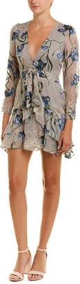 For Love & Lemons Ruffled Sheath Dress