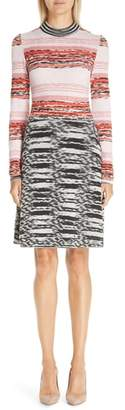 Missoni Mixed Pattern Wool Blend Dress