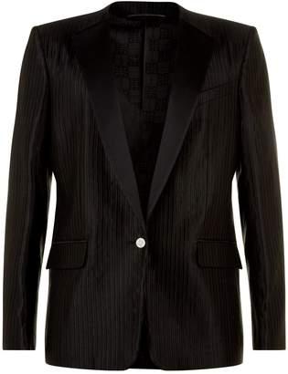 Givenchy Ottoman Wool Collarless Blazer