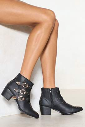Nasty Gal Gone for Stud Vegan Leather Boot