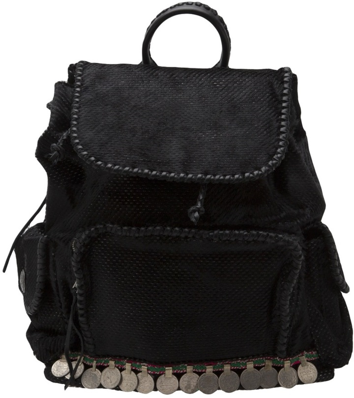 Simone Camille silver dot backpack