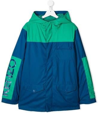 Kenzo TEEN logo parka coat
