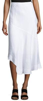 NIC+ZOE Long Engagement Linen-Blend Skirt $128 thestylecure.com
