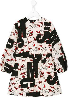 MSGM logo cat print dress