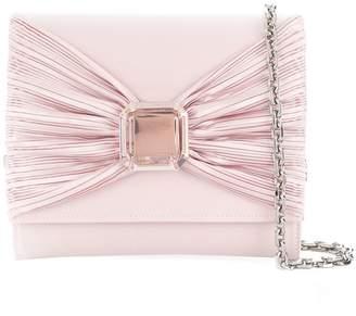 Casadei bow detail clutch bag