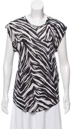 IRO Linen Zebra Print T-Shirt