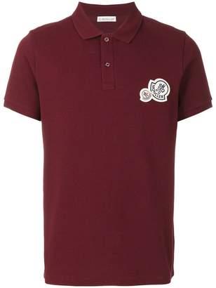 Moncler double logo plaque polo shirt