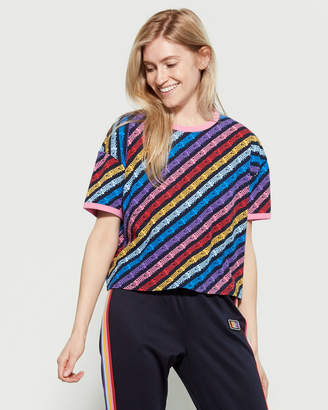 Juicy Couture Rainbow Short Sleeve Boxy Tee