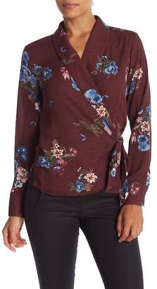 Catherine Malandrino Patterned Tie Front Blouse