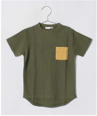 Ikka (イッカ) - ikka kids 【キッズ】ランダムワッフル胸ポケットTシャツ