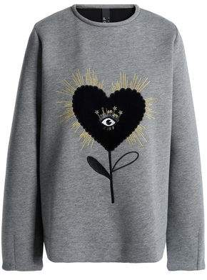 Mother of Pearl Embellished Cotton And Modal-Blend Sweatshirt