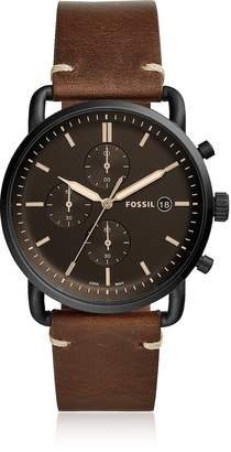 Fossil The Commuter Chronograph Brown Leather Men's Watch