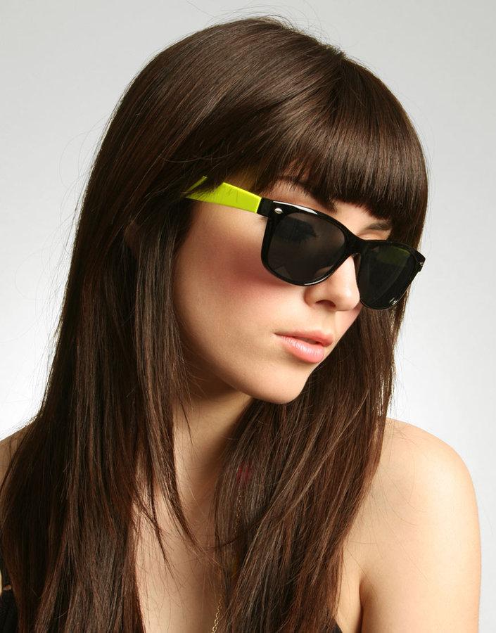Icon Eyewear Neon Arm Wayfarer Sunglasses