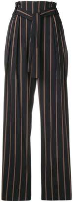 Vince striped belted high waist trousers