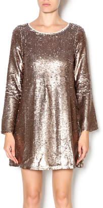 Double Zero Long Sleeve Sequin Dress
