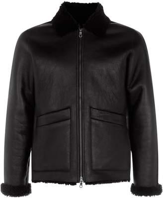 Folk Shearling Multi-Textured Jacket