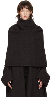 LAUREN MANOOGIAN Black Pyramid Shoulder Turtleneck