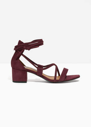 b4b26ae193e7 And other stories Lace Up Heeled Sandals