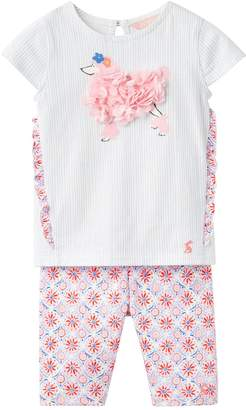 Joules Baby Paula Frill Top With Half Legging Set