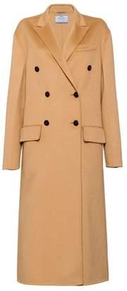 Prada Wool And Angora Coat With Fur Trim