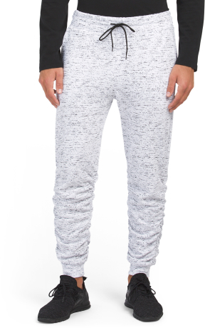 Ruched Printed Space Dye Joggers
