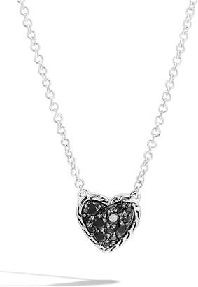 John Hardy Chain Classic Pave Heart Pendant Necklace