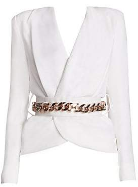 Ralph and Russo Women's Belted Silk Crepe Blazer
