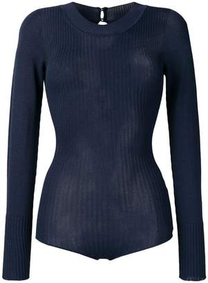 Jacquemus ribbed knitted body