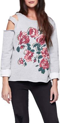 Sanctuary Asymmetric Double Cold-Shoulder Sweatshirt