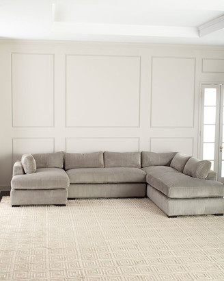 Old Hickory Tannery Mitchell Upholstered Sectional Sofa (Right Facing)