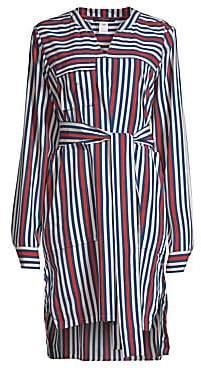 Derek Lam Women's Striped Belted Shirtdress