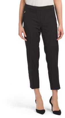 Petite Wrinkle Resistant Bond Stretch Slim Ankle Pants
