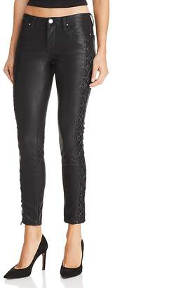 Blank NYC BLANKNYC Lace-Up Faux Leather Skinny Jeans in Risque