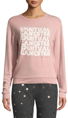 Spiritual Gangster Savasana Retro Graphic Pullover Sweater