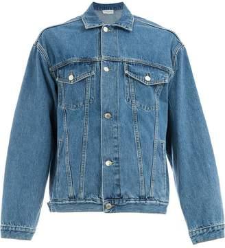 Ih Nom Uh Nit back print denim jacket