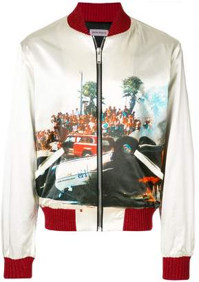 Palm Angels printed bomber jacket