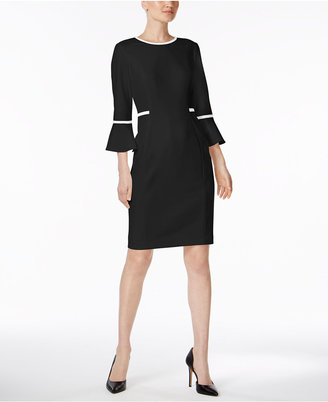 Calvin Klein Bell-Sleeve Sheath Dress $134 thestylecure.com