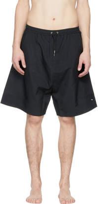 McQ Black Swallow Patch Low Swim Shorts
