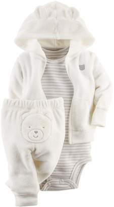 Carter's Unisex Baby 3 Piece Terry Cardigan Set (Baby)
