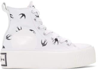 McQ White Mini Swallow Platform Sneakers