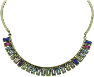 Sparkling Sage 14K Plated Resin Collar Necklace