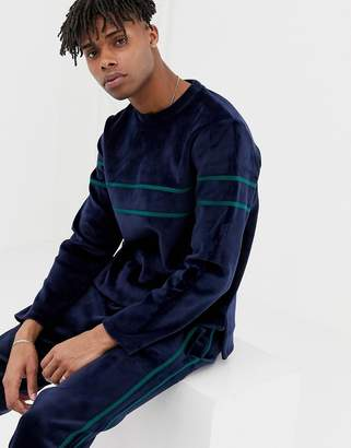 NATIVE YOUTH co-ord velour sweatshirt