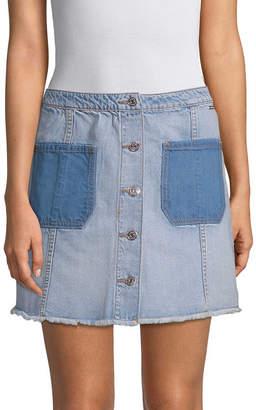 Armani Exchange Denim Button-Front Skirt
