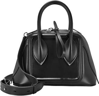 Alexander McQueen Pinter Leather Bowling Bag