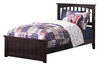 Atlantic Furniture Mission Traditional Bed with Matching Foot Board, Multiple Colors and Sizes