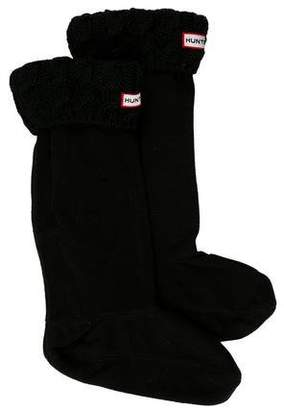 Hunter Cable Knit Welly Socks