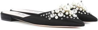 Miu Miu Exclusive to mytheresa.com – embellished satin slippers
