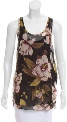 By Malene Birger Floral Silk Top