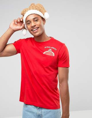 Brave Soul Holidays Turkey Pocket T-Shirt